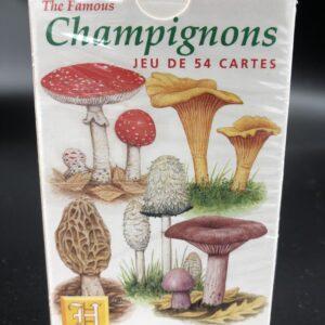 Jeu de 54 cartes - motif champignons